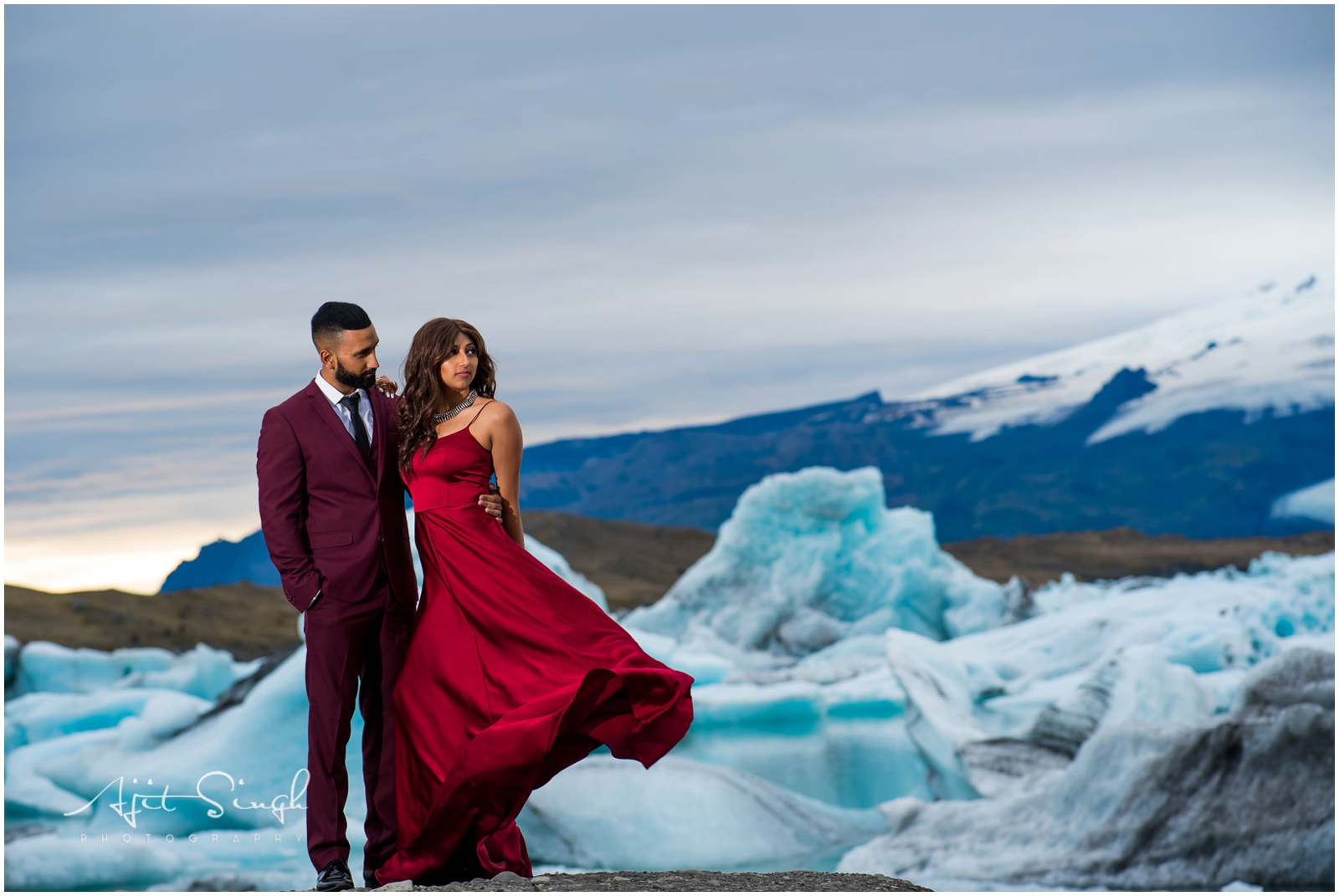 Iceland Engagement Session Ajit Singh Photography